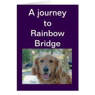 Tarjeta Puente del arco iris - condolencia para el perro