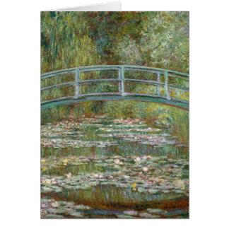 Tarjeta Puente del arte de Monet sobre una charca de los
