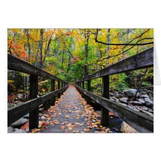 Tarjeta Puente del otoño