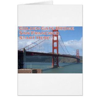 Tarjeta Puente Golden Gate San Francisco California los