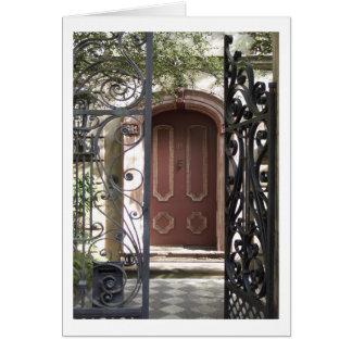 Tarjeta Puerta de Charleston