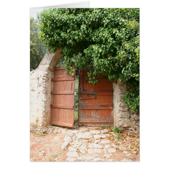 Tarjeta Puerta de jardín secreto