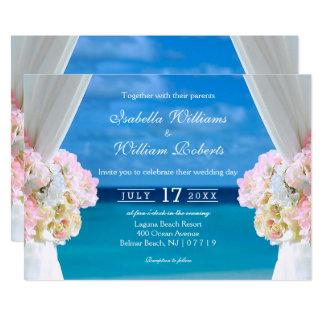 Tarjeta Puerta floral elegante del boda del verano de la