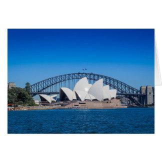Tarjeta Puerto de Sydney en una mañana hermosa