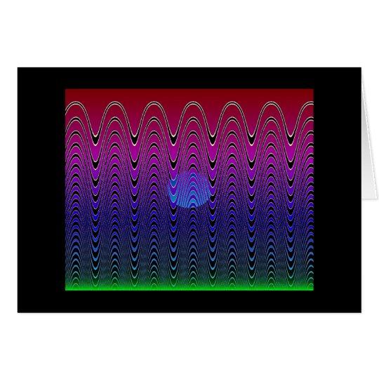 Tarjeta Puesta del sol azul #7 (tarjeta) del pixel