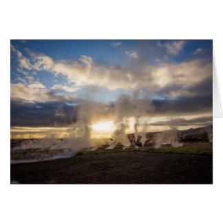 Tarjeta Puesta del sol de Islandia