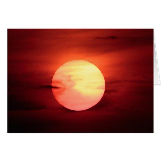 Tarjeta Puesta del sol de la ciencia ficción