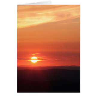 Tarjeta Puesta del sol de la montaña en el Shenandoah