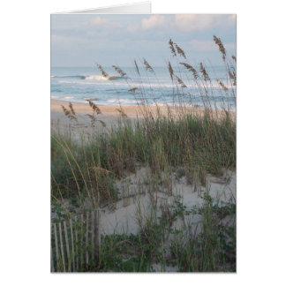 Tarjeta Puesta del sol de la playa