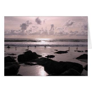 Tarjeta Puesta del sol de la playa de San Diego California