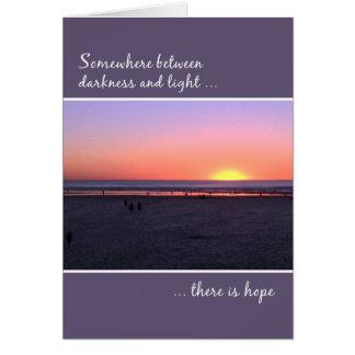Tarjeta Puesta del sol de la playa del cumpleaños del