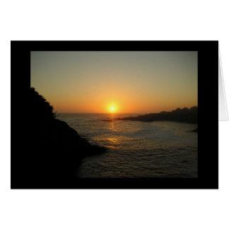 Tarjeta Puesta del sol de Mendocino