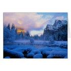 Tarjeta Puesta del sol del invierno en el parque nacional