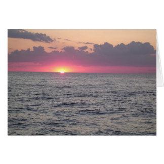 Tarjeta Puesta del sol del lago Erie - Euclid, Ohio