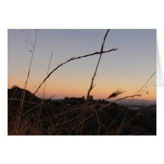 Tarjeta Puesta del sol del parque del barranco de Franklin