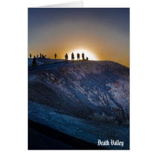 Tarjeta Puesta del sol del punto del zabriskie de Death