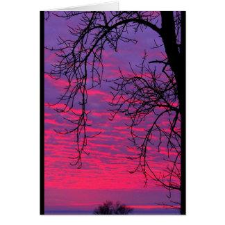 Tarjeta Puesta del sol del Winnebago del lago cualquier