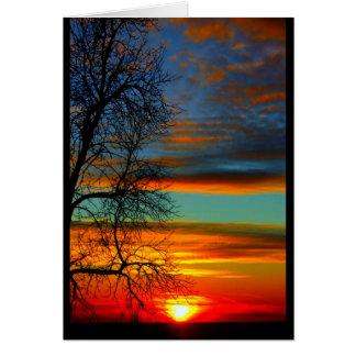 Tarjeta Puesta del sol del Winnebago del lago que piensa