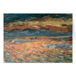 Tarjeta Puesta del sol en el mar de Pedro Renoir, bella
