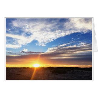 Tarjeta Puesta del sol en la playa de Matagorda