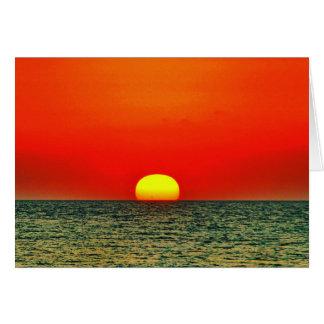 Tarjeta Puesta del sol sobre el MED