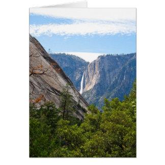 Tarjeta Punto de las cataratas de Yosemite y del glaciar