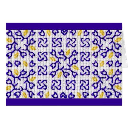 Tarjeta púrpura 1 del remiendo