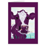 Tarjeta púrpura 2 de la vaca