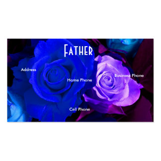 Tarjeta púrpura azul del perfil de los rosas del tarjetas de visita