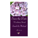 Tarjeta púrpura de la invitación del boda del Hydr Tarjeta Personal