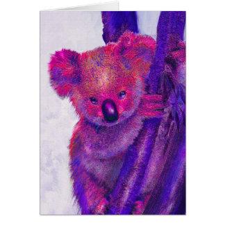 tarjeta púrpura de la koala