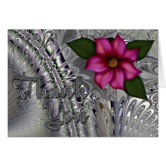 Tarjeta púrpura de plata del de agradecimiento de