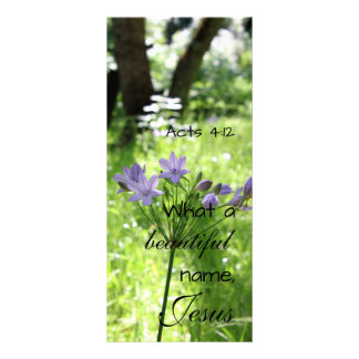 Tarjeta púrpura del estante del Wildflower Diseño De Tarjeta Publicitaria