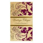 tarjeta púrpura del perfil del ciruelo floral del  tarjetas personales