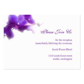 Tarjeta púrpura del recinto de la recepción tarjetas de visita grandes