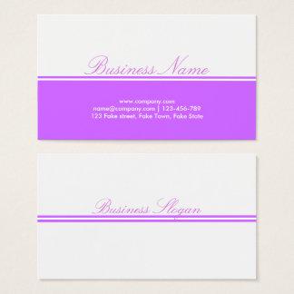 Tarjeta púrpura hermosa de Bizniz
