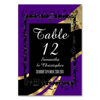 Tarjeta Púrpura negra y oro personalizados
