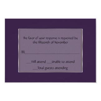 Tarjeta púrpura y de plata de uso múltiple de la invitación 8,9 x 12,7 cm