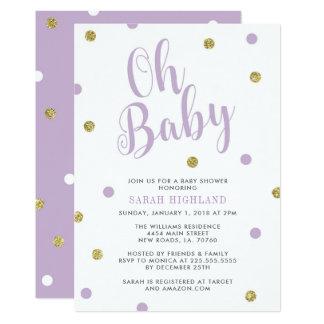 Tarjeta Púrpura y fiesta de bienvenida al bebé del