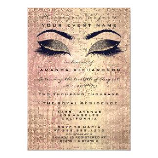 Tarjeta Purpurina color de rosa rosado décimosexto del ojo