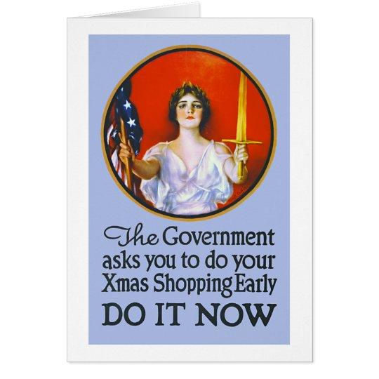 Tarjeta que hace compras del navidad de la Primera