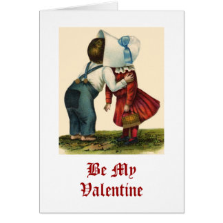 Tarjeta que se besa del el día de San Valentín del