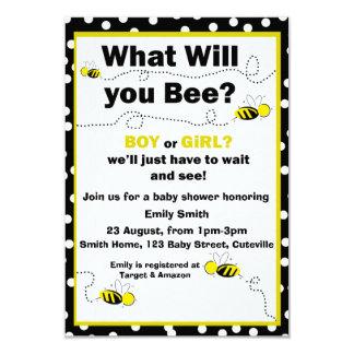 Tarjeta Qué usted fiesta de bienvenida al bebé de la abeja
