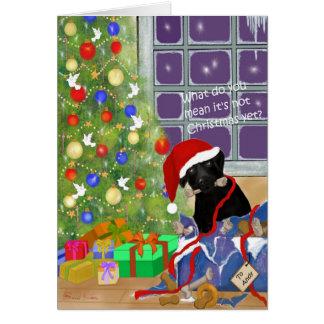 Tarjeta ¿Qué usted lo significa no es navidad todavía?
