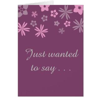 Tarjeta Querer decir…. Le amo
