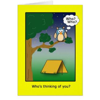 Tarjeta ¿Quién es Thinkig de usted en el campo?