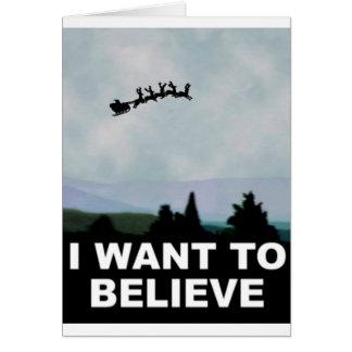 Tarjeta Quiero creer Santa