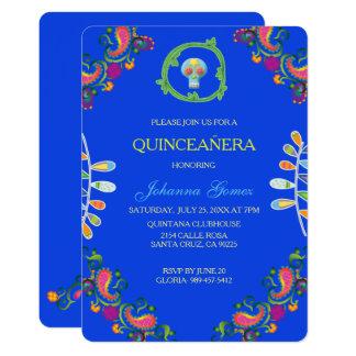 TARJETA QUINCEAÑERA INVITATION DIA DE LOS MUERTOS