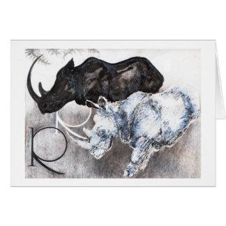 Tarjeta R está para el rinoceronte