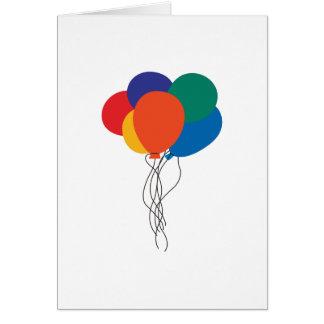 Tarjeta Racimo de globos
